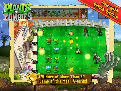 Plants vs Zombies iPad