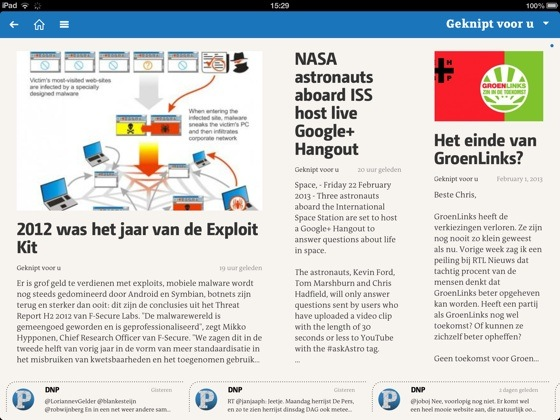 DNP Geknipt voor u iPad