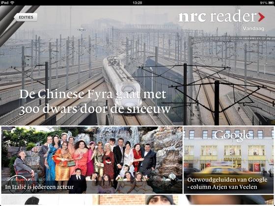 NRC Reader voorpagina krant dageditie