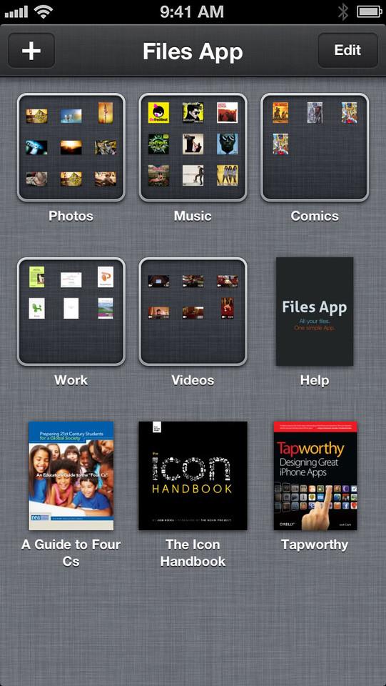 Files App bestandsindeling