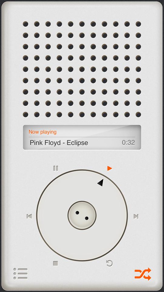 T3 Player iPhone muziekspeler screenshot