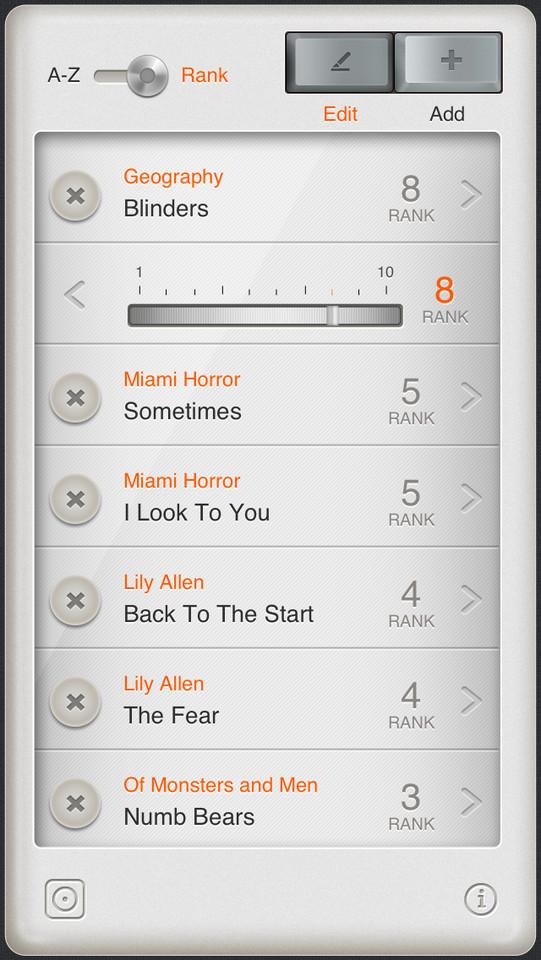 T3 Player Dieter Rams vormgeving op iPhone