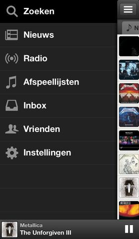Spotify nieuw hoofdmenu iPhone