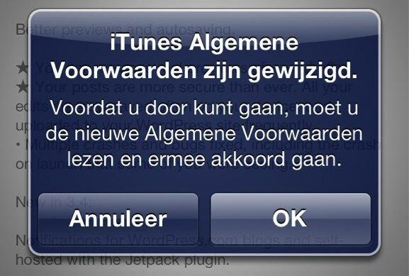 App Store voorwaarden