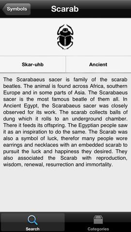symbols scarab