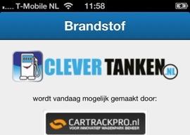 Clevertanken iPhone-app benzineprijzen