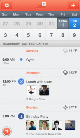 Sunrise Calendar iPhone