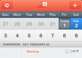 Sunrise Calendar iPhone agenda Google Calendar