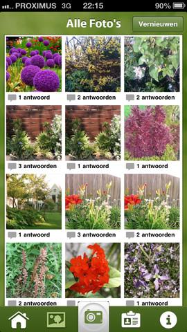 Plantifier alle foto's