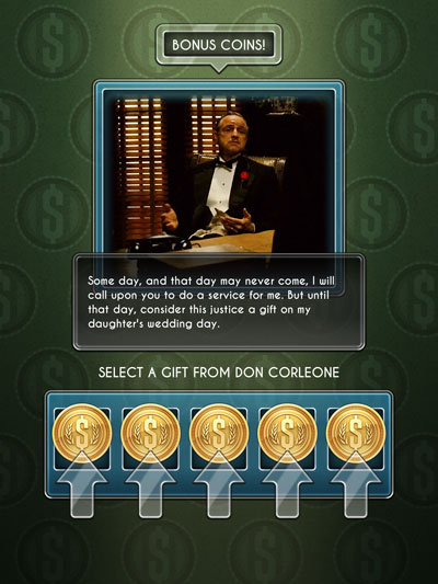 godfather slots scherm