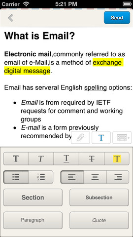 Mail-apps iPhone Seed Mail editor