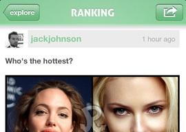 Rank Your Pics iPhone keuzes maken app