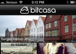 Bitcasa iPhone-app voor online opslag cloud