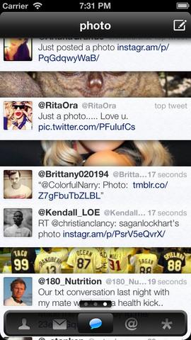 Twittelator Neue timeline iPhone