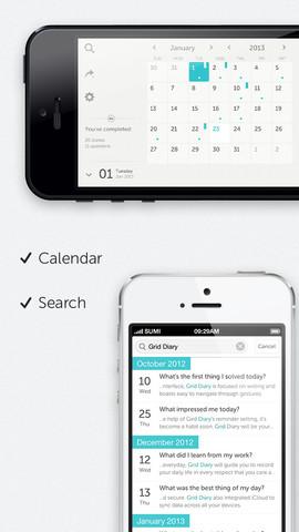 Grid Diary zoeken en data