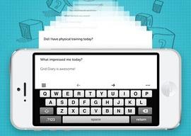 Grid-Diary iPhone-app dagboek met vragen