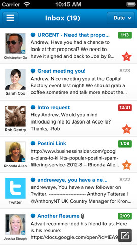 Taskbox mailbox met prioriteiten