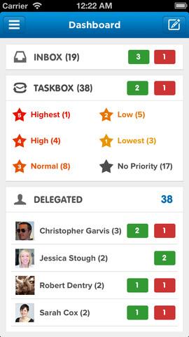 Taskbox dashboard