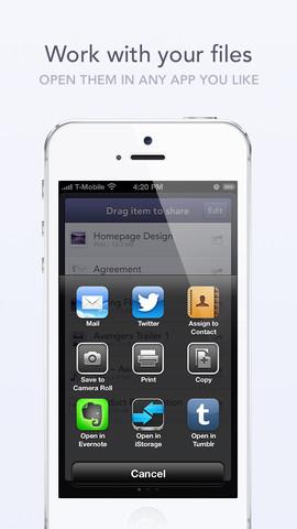 InstaShare iPhone bestanden openen
