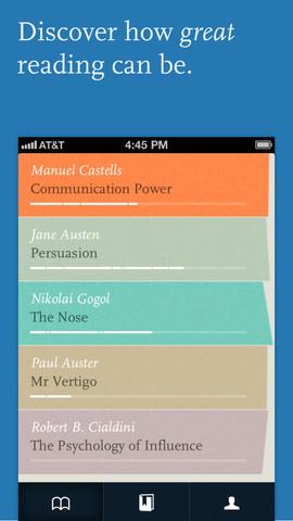 Readmill boekenkast iPhone