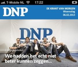DNP De Nieuwe Pers iPhone iPad preview