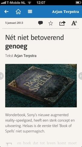 DNP Book of Spells artikel