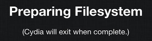 Cydia: preparing filesystem