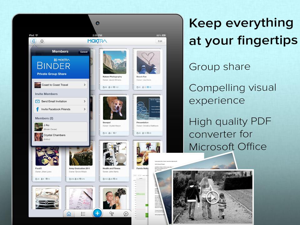 Moxtra online vergaderen op iPad header