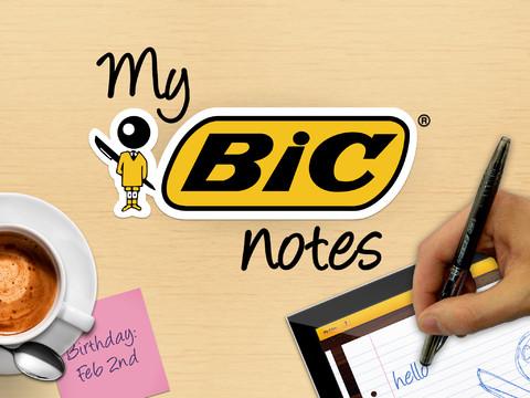 My BIC Notes iPad header