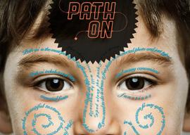 Path On tekst krullen op foto's