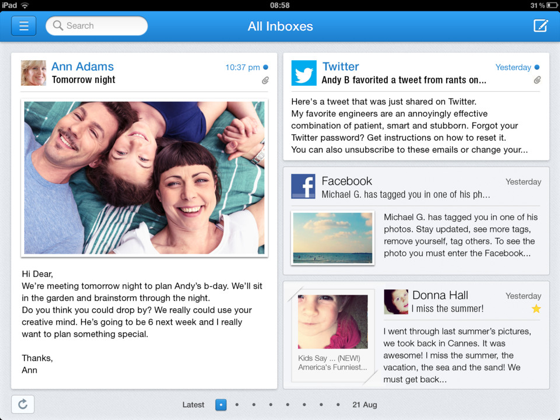 Incredimail iPad mail-app