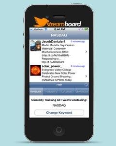 StreamBoard: volg realtime favoriete onderwerpen op Twitter