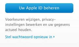 apple id wachtwoord instellen