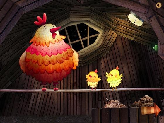 Slaap Lekker iOS prentenboek kippen