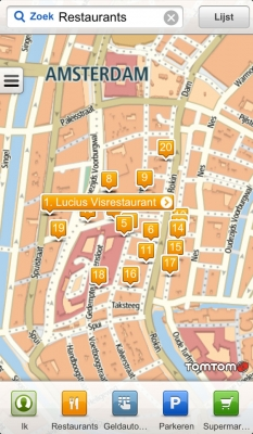 TomTom Places locaties op kaart