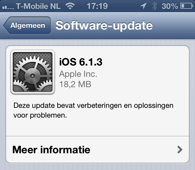 iOS 6.1.3 software-update iPhone