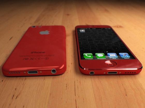 4-inch budget iPhone rood bovenkant en onderkant