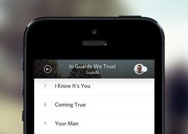 Rdio header iPhone update