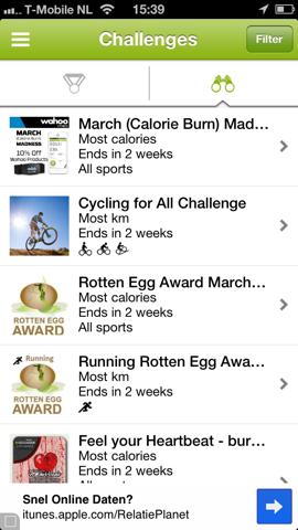 Endomondo Sports Tracker challenges