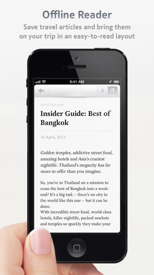 Dcovery reis-app iPhone offline reader