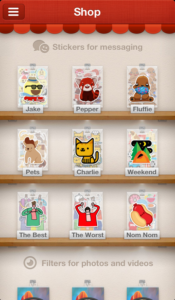 Path 3.0 shop met stickers en filters