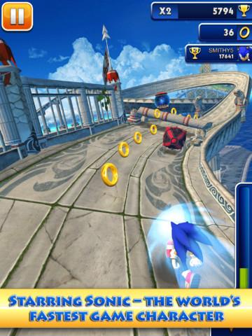 GU WO Sonic Dash iPad iPhone