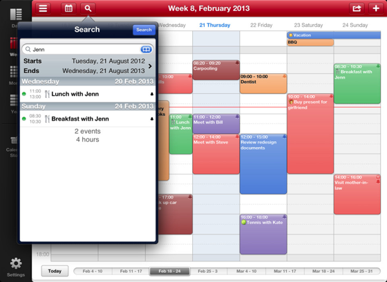 Week Calendar HD iPad zoeken