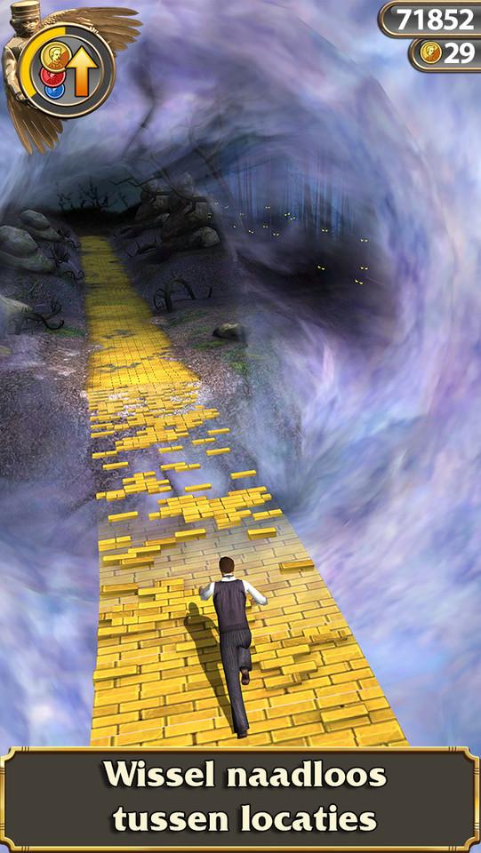 Temple Run Oz vallende weg