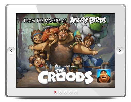 The Croods Rovio Mobile header