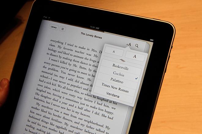 iPad e-book