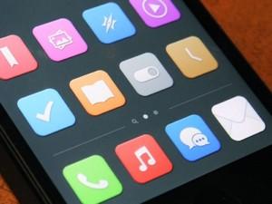flat design iphone icons