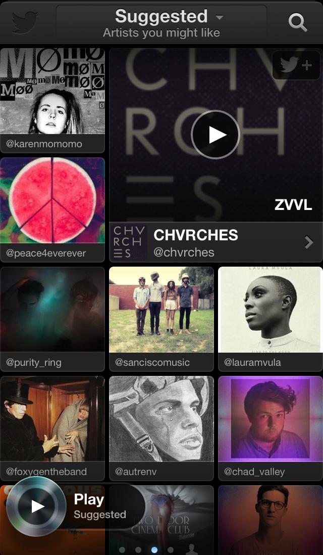 Twitter Music screenshot
