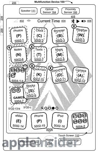 iOS mappen patent iOS 4