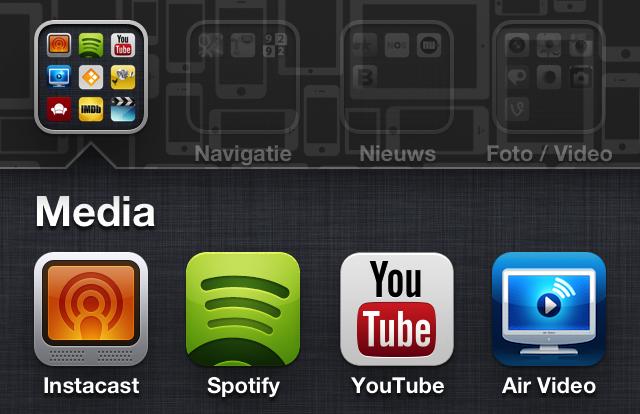 iOS mappen screenshot